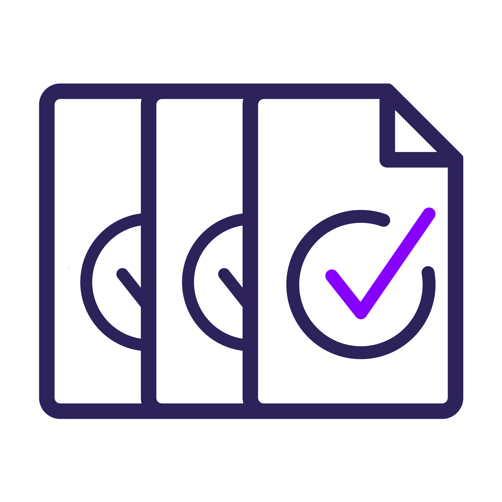 File icon with checkmark